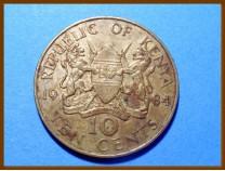 Кения 10 центов 1984 г.