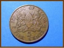 Кения 5 центов 1975 г.