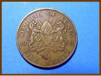 Кения 5 центов 1970 г.