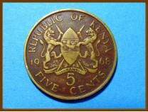 Кения 5 центов 1968 г.