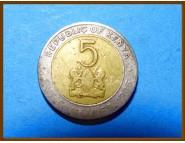 Кения 5 шиллингов 1995 г.