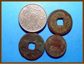 Иностранные монеты 4 шт.