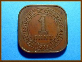 Британская Малайя 1 цент 1939 г.