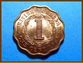 Британский Гондурас 1 цент 1965 г.