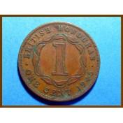 Британский Гондурас 1 цент 1945 г.