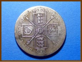 Великобритания флорин 1890 г. Серебро