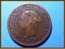 Канада 1 цент 1884 г.