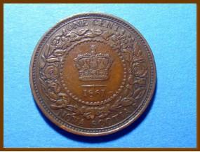 Канада 1 цент Новая Шотландия 1861 г.