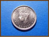 Цейлон 10 центов 1941 г. Серебро