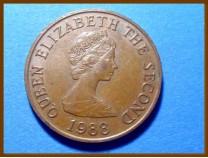 Джерси 2 пенса 1988 г.