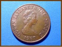 Джерси 2 пенса 1987 г.