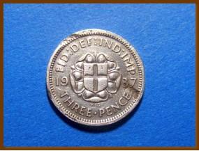 Великобритания 3 пенса 1937 г. Серебро