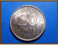 Британская Малайя 20 центов 1939 г. Серебро