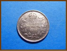 Канада 5 центов 1917 г. Серебро