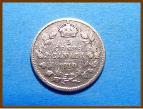 Канада 5 центов 1910 г. Серебро