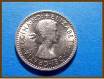 Австралия 3 пенса 1959 г. Серебро