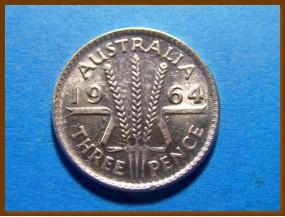 Австралия 3 пенса 1964 г. Серебро