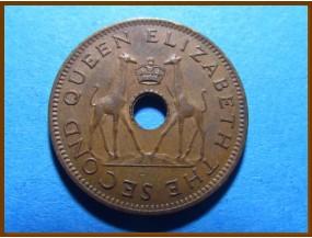 Родезия и Ньясаленд 1/2 пенни 1954 г.