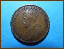 Канада 1 цент 1913 г. Ньюфаундленд