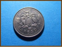 Барбадос 10 центов 1989 г.