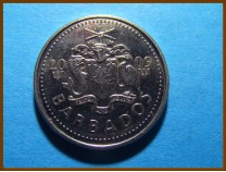 Барбадос 25 центов 2009 г.