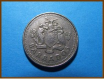 Барбадос 25 центов 1998 г.