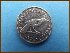Новая Зеландия 6 пенсов 1934 г.