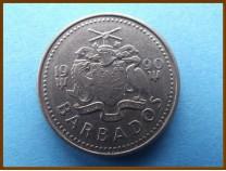 Барбадос 25 центов 1990 г.