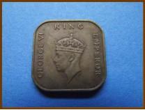 Британская Малайя 1 цент 1941 г.