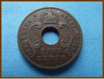Восточная Африка 5 центов 1934 г.