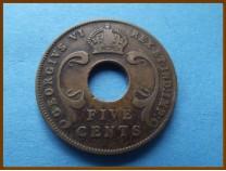 Восточная Африка 5 центов 1941 г.