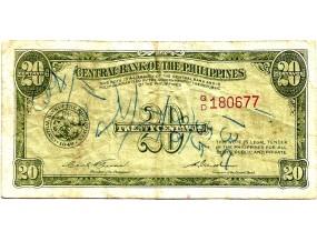 Филиппины 20 сентаво 1949 г.