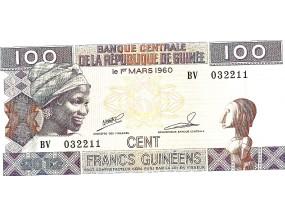 Гвинея 100 центов франков 1960 г.