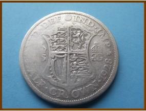 Великобритания 1/2 кроны 1928 г. Серебро