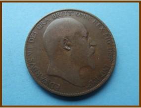 Великобритания 1 пенни 1906 г.