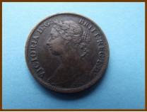 Великобритания фартинг 1885 г.