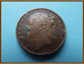 Великобритания фартинг 1855 г.