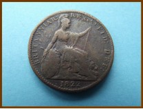 Великобритания фартинг 1822 г.