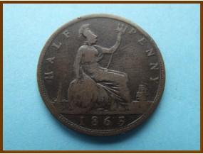 Великобритания 1/2  пенни 1863 г.