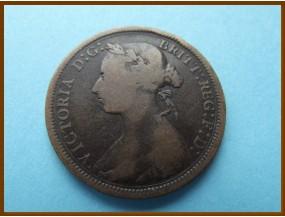 Великобритания 1/2  пенни 1887 г.