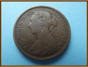 Великобритания 1/2  пенни 1885 г.