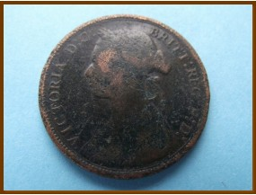 Великобритания 1/2  пенни 1877 г.