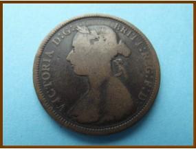 Великобритания 1/2  пенни 1891 г.