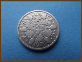 Великобритания 6 пенсов 1933 г. Серебро