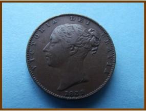 Великобритания фартинг 1839 г.