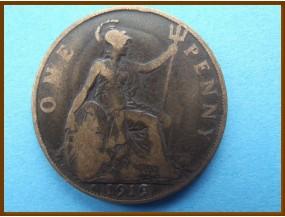 Великобритания 1 пенни 1919 г.