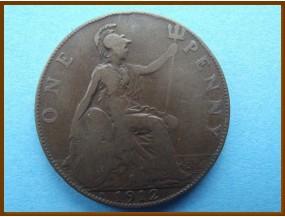 Великобритания 1 пенни 1912 г.