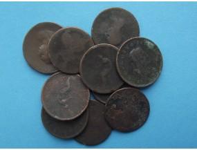 Лот монет Великобритании и Ирландии 18-й век. 10 шт.