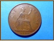 Великобритания 1 пенни 1966 г.