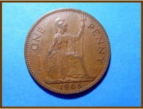 Великобритания 1 пенни 1965 г.